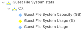 Available metrics in vROps 6.6.1 for guest file system stats