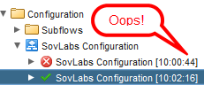 SovLabs configuration workflow token failure