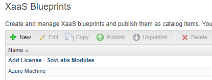 New XaaS blueprints